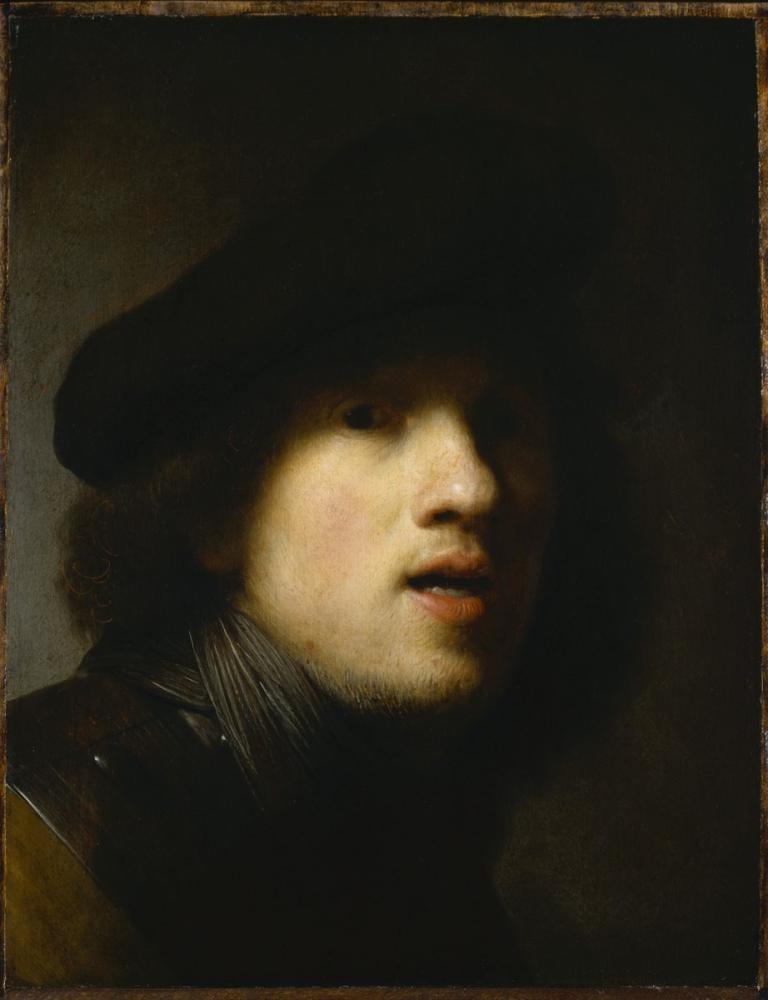 Rembrandt van Rijn, Clowes Self Portrait, Canvas, Rembrandt, kanvas tablo, canvas print sales