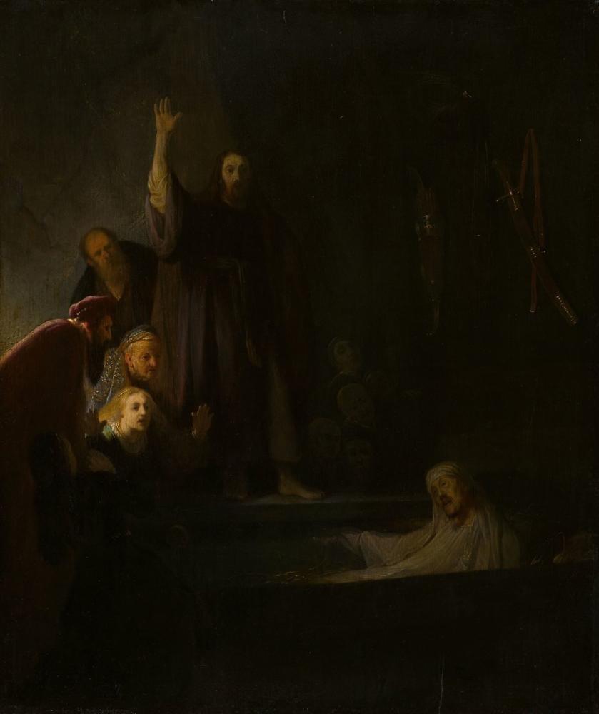 Rembrandt van Rijn, Kaldırma Lazarus, Kanvas Tablo, Rembrandt, kanvas tablo, canvas print sales