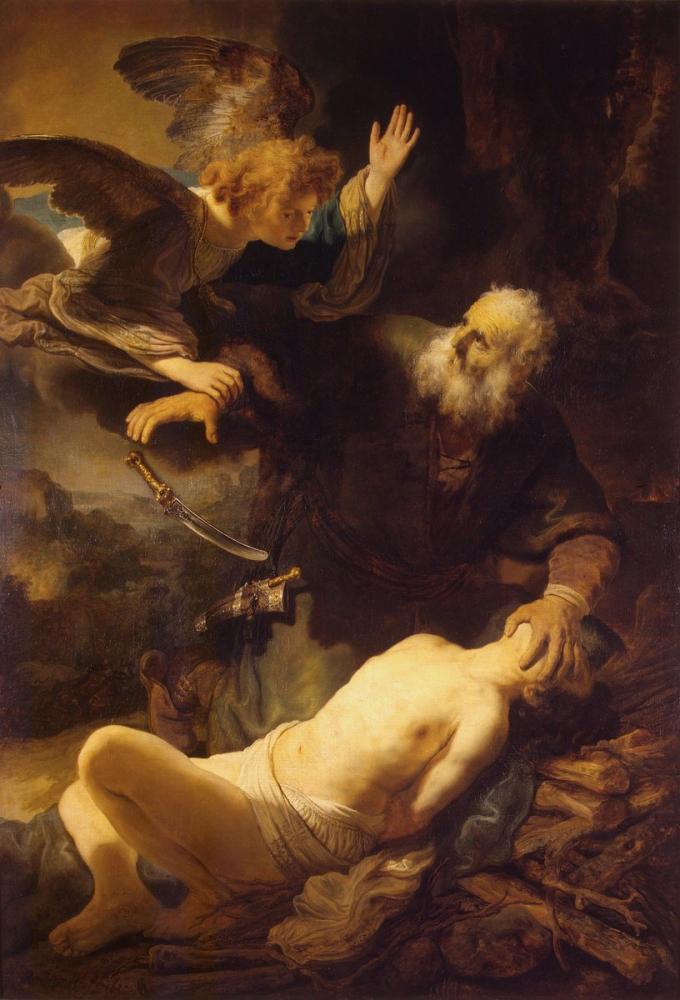 Rembrandt van Rijn, İshak Fedakarlığı, Kanvas Tablo, Rembrandt, kanvas tablo, canvas print sales