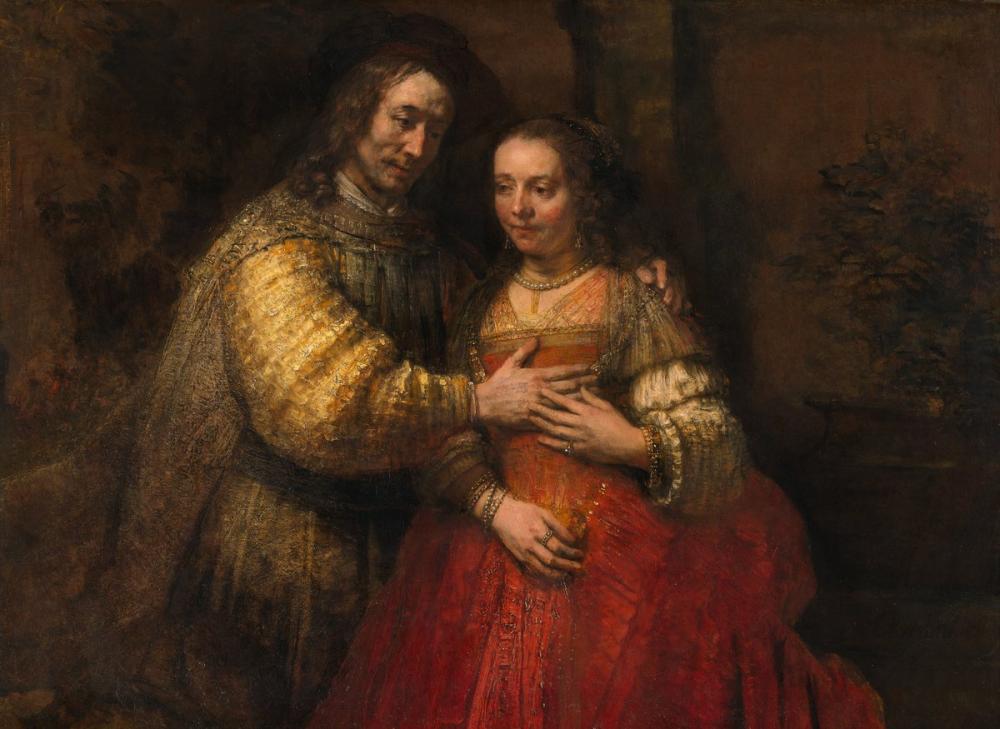 Rembrandt van Rijn, The Jewish Bride, Canvas, Rembrandt, kanvas tablo, canvas print sales