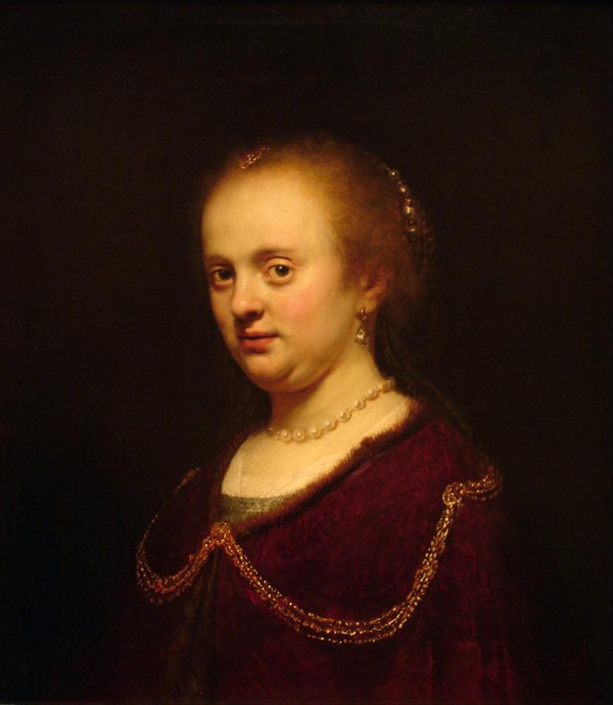 Rembrandt van Rijn, Young Woman Portrait Workshop, Canvas, Rembrandt, kanvas tablo, canvas print sales