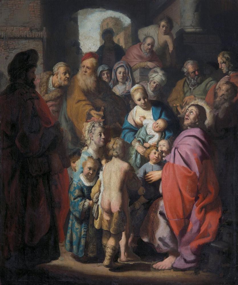 Rembrandt van Rijn, Let The Children Come To Me, Canvas, Rembrandt, kanvas tablo, canvas print sales