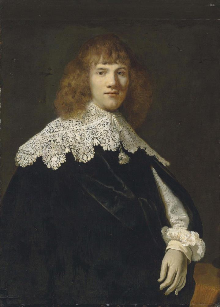 Rembrandt van Rijn, Portrait Of A Gentleman, Canvas, Rembrandt, kanvas tablo, canvas print sales