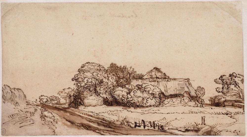 Rembrandt van Rijn, Yol Manzarası, Kanvas Tablo, Rembrandt, kanvas tablo, canvas print sales