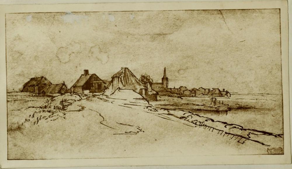 Rembrandt van Rijn, Diemen Manzarası, Kanvas Tablo, Rembrandt, kanvas tablo, canvas print sales