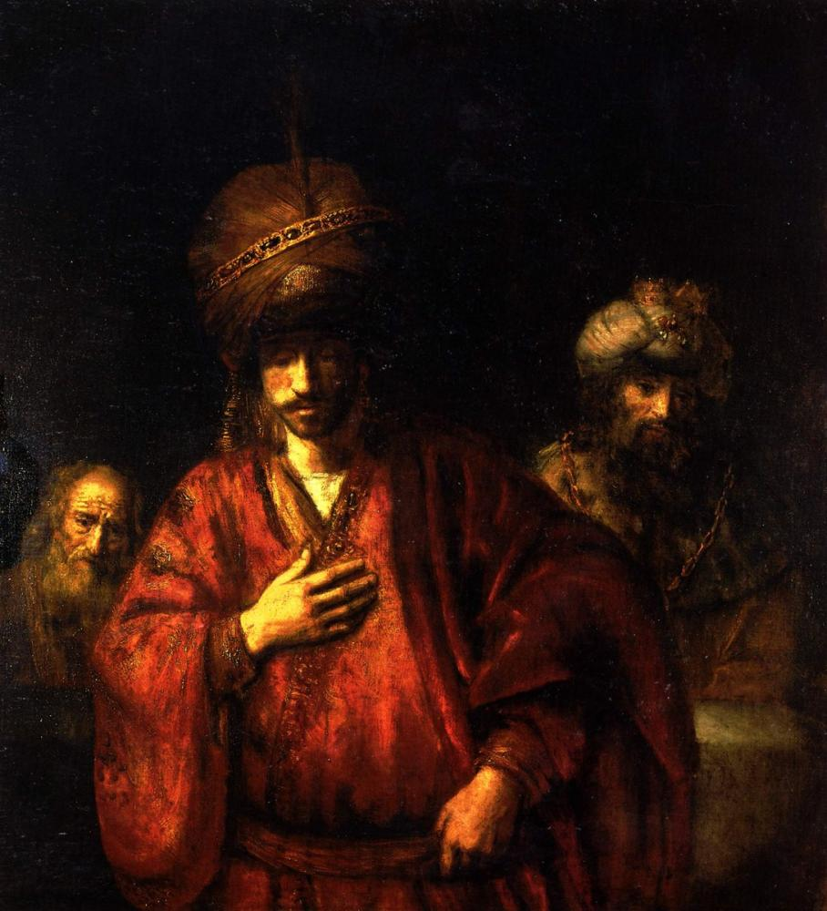 Rembrandt van Rijn, Haman Bible, Canvas, Rembrandt, kanvas tablo, canvas print sales