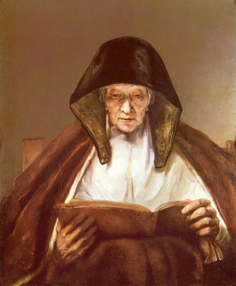 Rembrandt van Rijn, An Old Woman Reading, Canvas, Rembrandt, kanvas tablo, canvas print sales