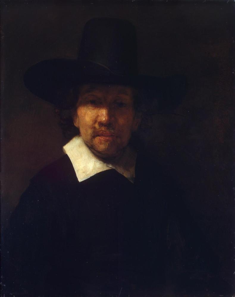 Rembrandt van Rijn, Portrait Of The Poet Jeremias de Decker, Canvas, Rembrandt, kanvas tablo, canvas print sales