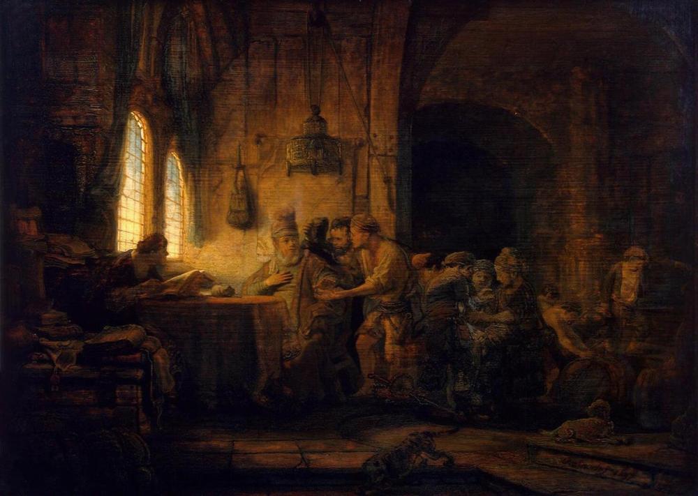 Rembrandt van Rijn, The Parable Of The Labourers In The Vineyard, Canvas, Rembrandt, kanvas tablo, canvas print sales