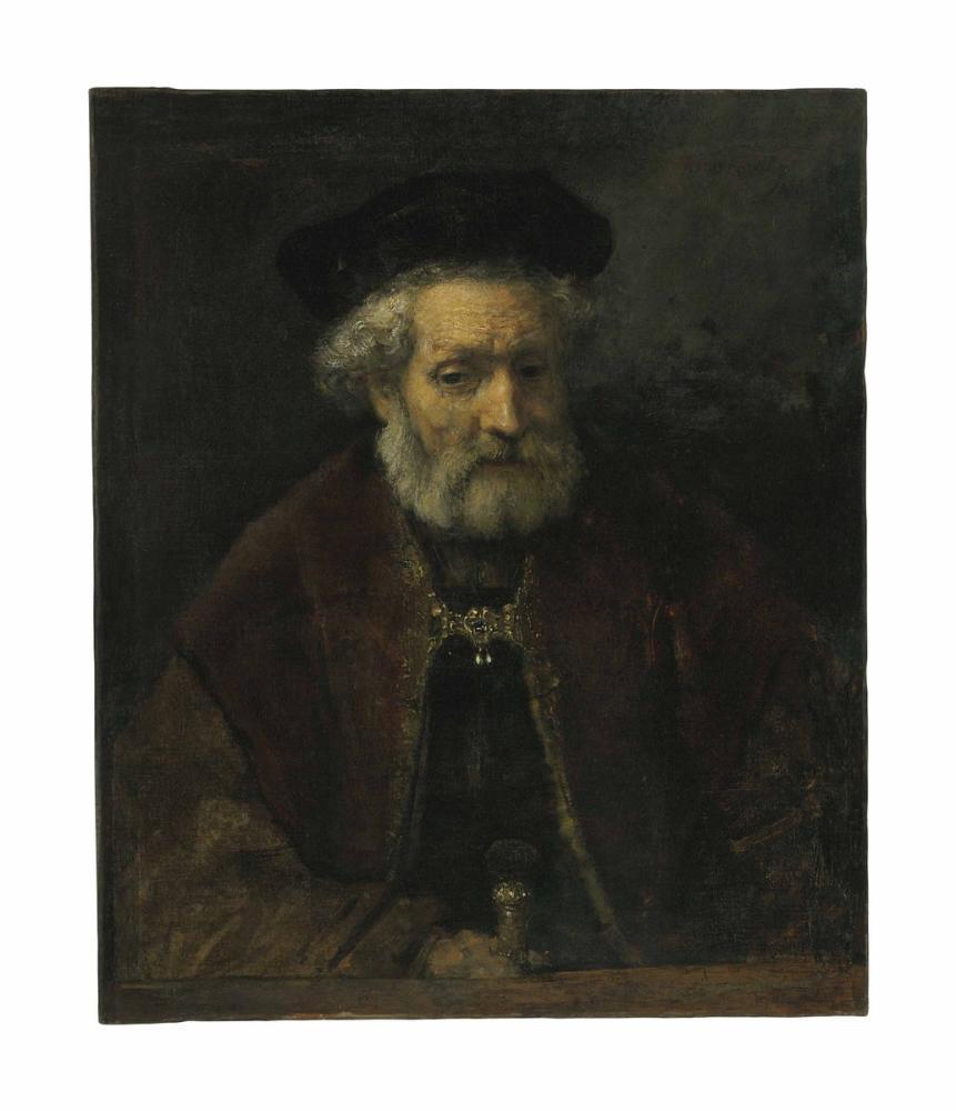 Rembrandt van Rijn, Yaşlı Sakallı Bir Erkeğe Atfedilen, Kanvas Tablo, Rembrandt, kanvas tablo, canvas print sales