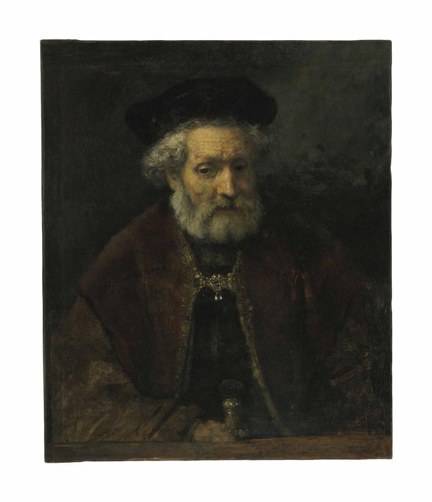 Rembrandt van Rijn, Attributed To An Old Bearded Man, Canvas, Rembrandt, kanvas tablo, canvas print sales