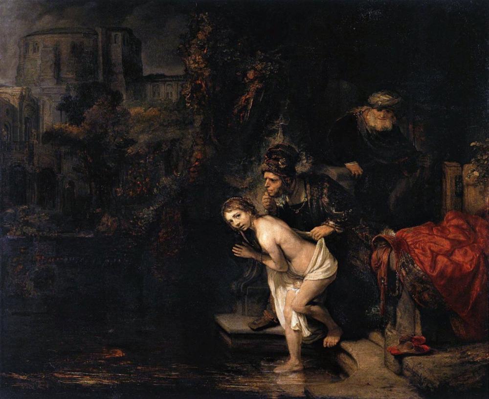 Rembrandt van Rijn, Susanna Ve Büyükler, Kanvas Tablo, Rembrandt, kanvas tablo, canvas print sales