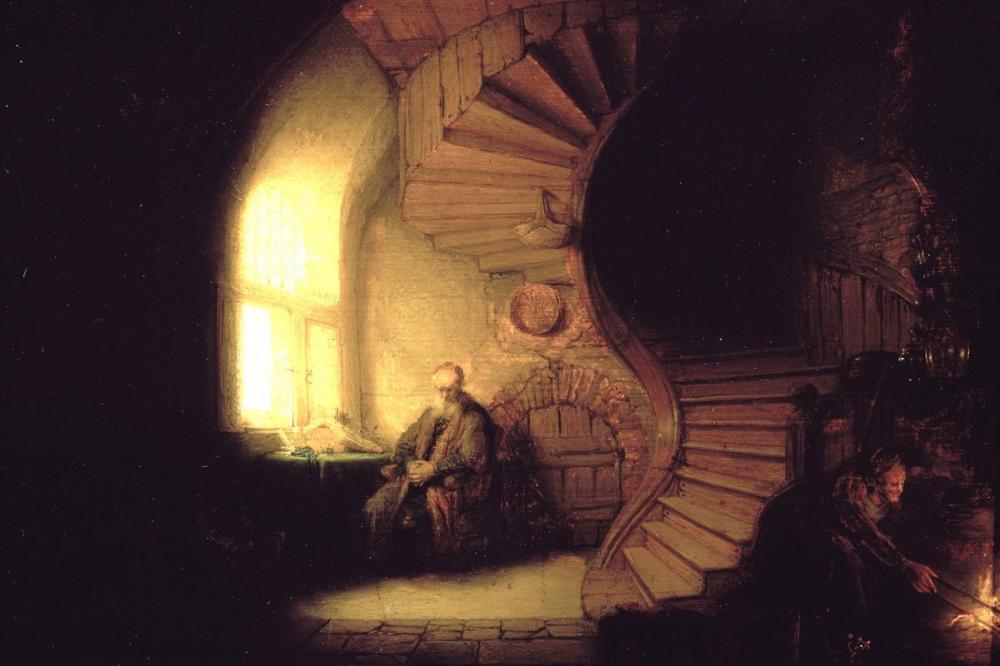 Rembrandt van Rijn, Meditasyonda Filozof, Kanvas Tablo, Rembrandt, kanvas tablo, canvas print sales