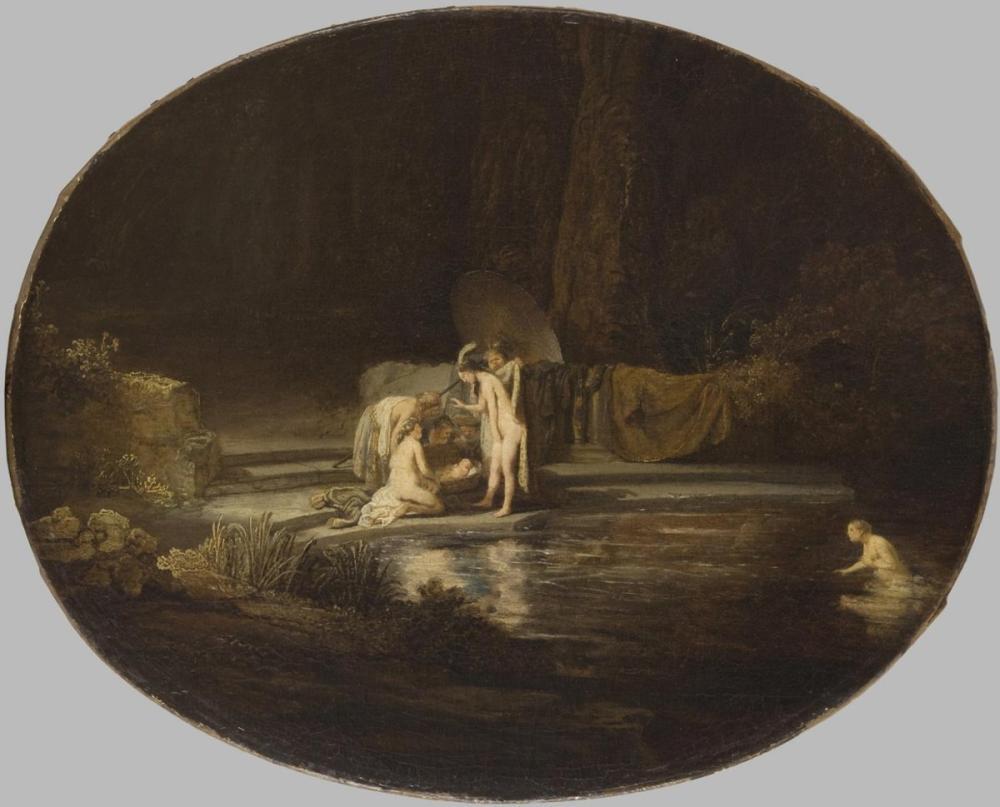 Rembrandt van Rijn, The Finding Of Moses, Canvas, Rembrandt, kanvas tablo, canvas print sales