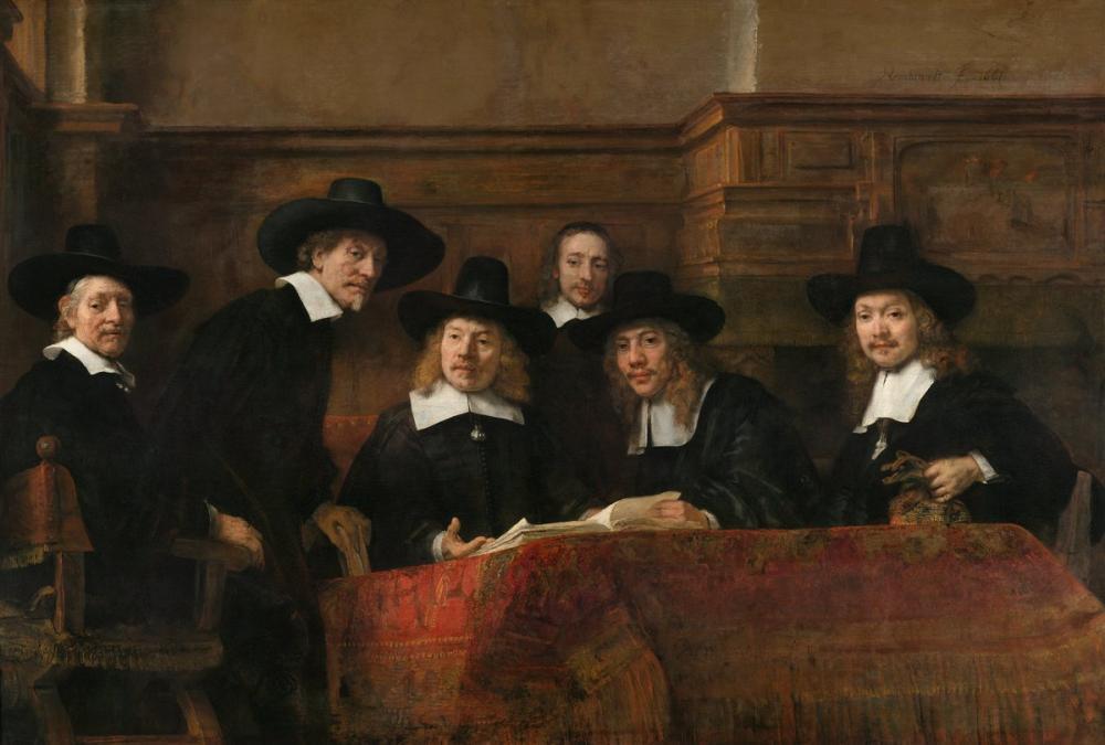Rembrandt van Rijn, Syndics Of The Drapers  Guild, Canvas, Rembrandt, kanvas tablo, canvas print sales