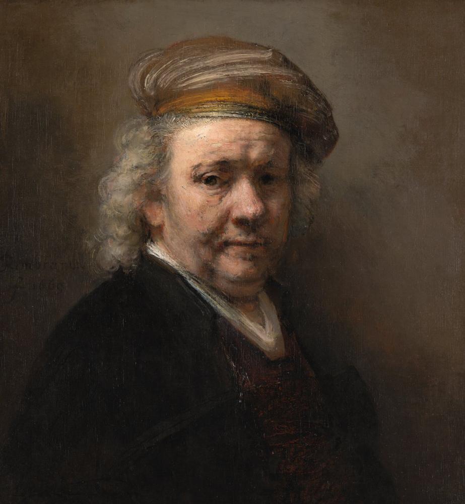 Rembrandt van Rijn, Otoportre Mauritshuis, Kanvas Tablo, Rembrandt, kanvas tablo, canvas print sales