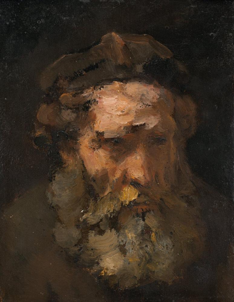Rembrandt van Rijn, Saint Matthew Başı, Kanvas Tablo, Rembrandt, kanvas tablo, canvas print sales