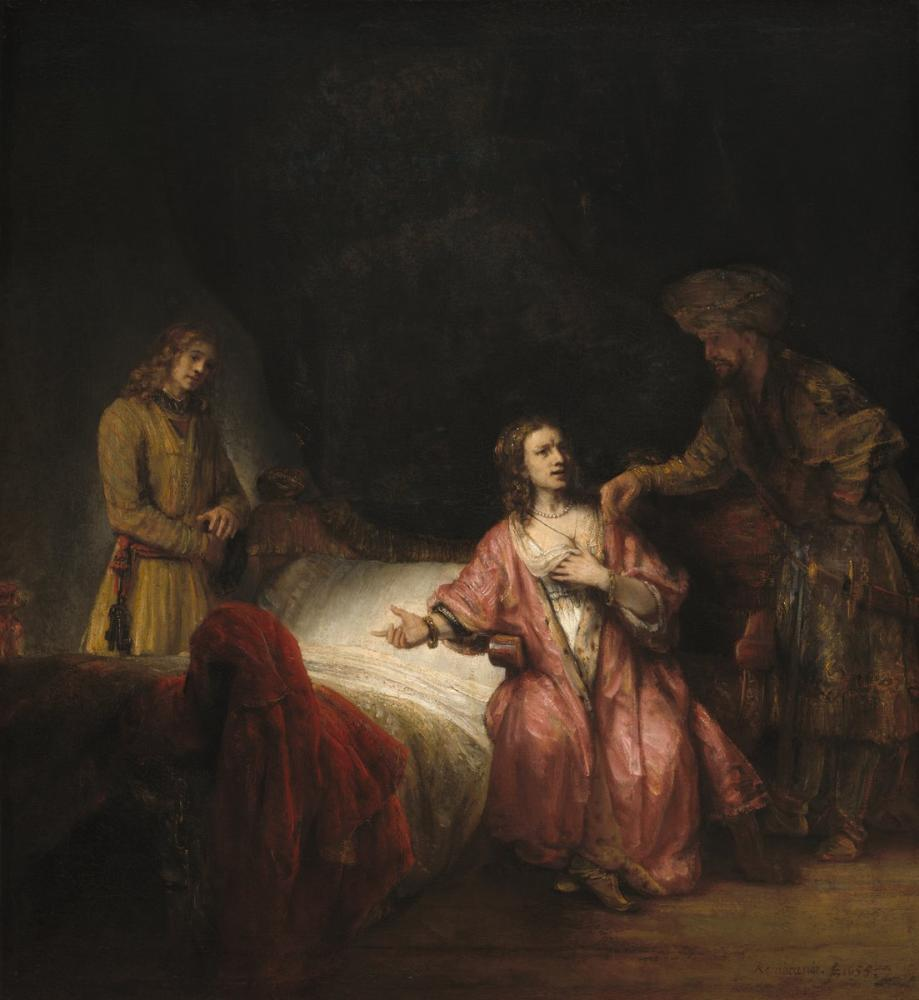 Rembrandt van Rijn, Joseph Accused Potiphar s Wife, Canvas, Rembrandt, kanvas tablo, canvas print sales