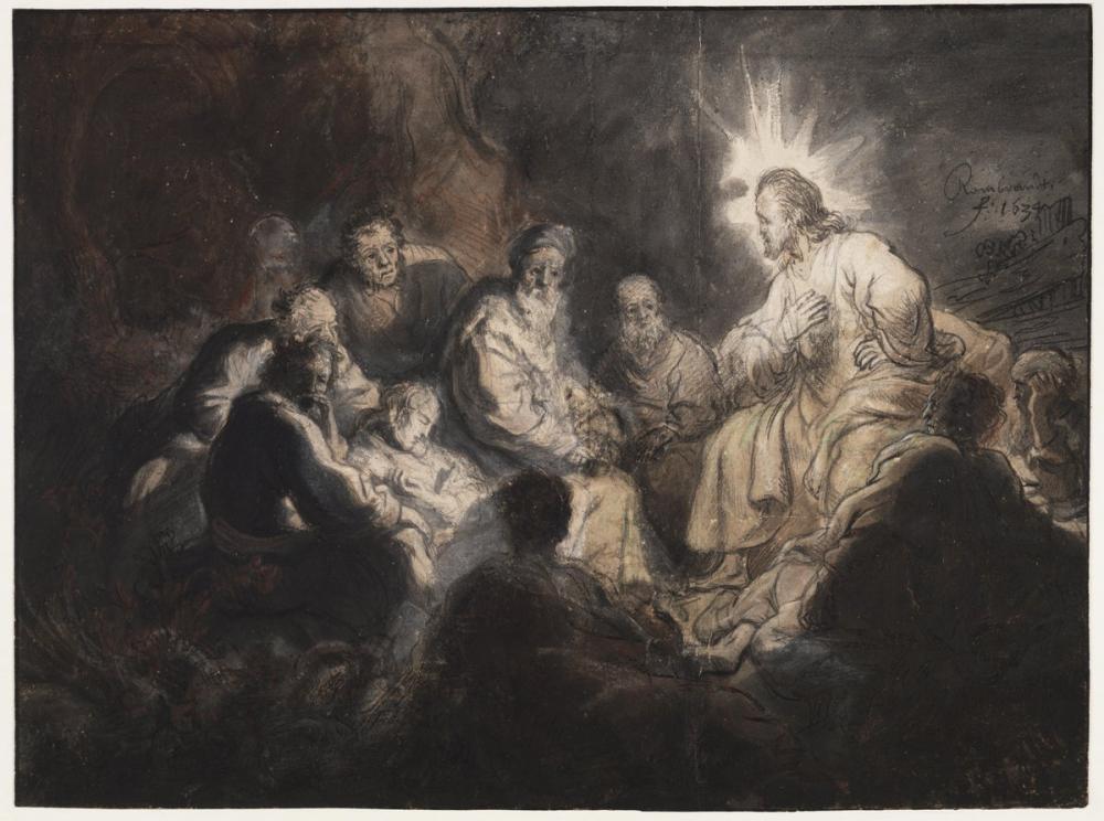 Rembrandt van Rijn, Jesus And His Disciples, Canvas, Rembrandt, kanvas tablo, canvas print sales