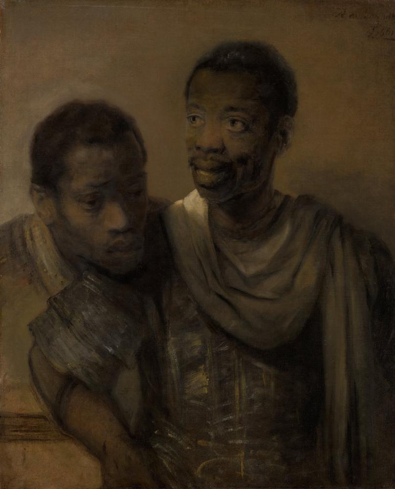 Rembrandt van Rijn, İki Afrikalı Adam, Kanvas Tablo, Rembrandt, kanvas tablo, canvas print sales