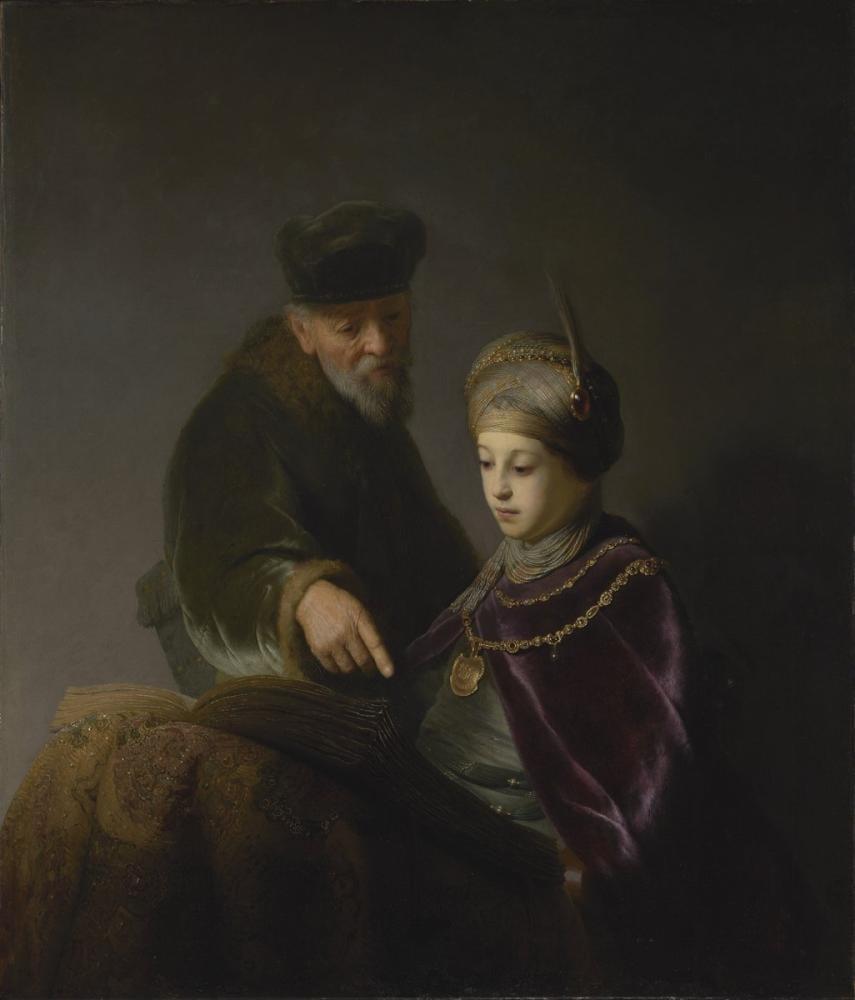 Rembrandt van Rijn, A Young Scholar And His Tutor, Canvas, Rembrandt, kanvas tablo, canvas print sales