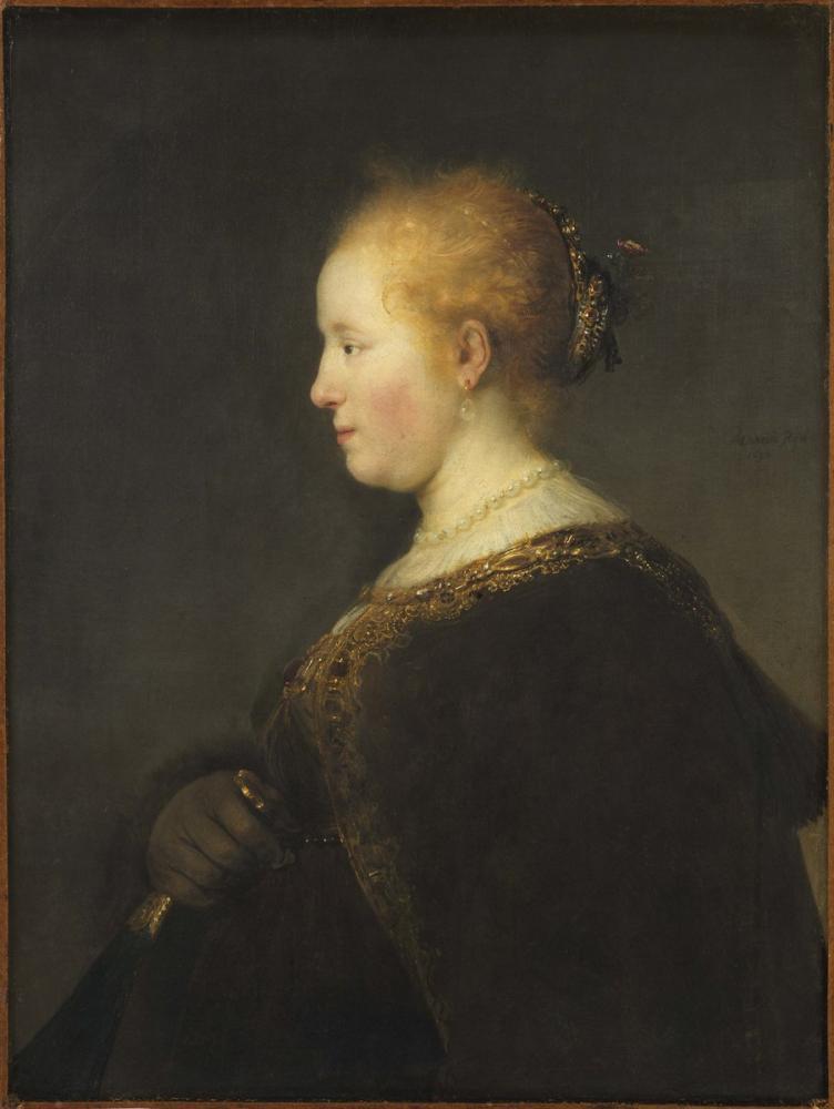 Rembrandt van Rijn, Genç Kadın Profil, Kanvas Tablo, Rembrandt, kanvas tablo, canvas print sales