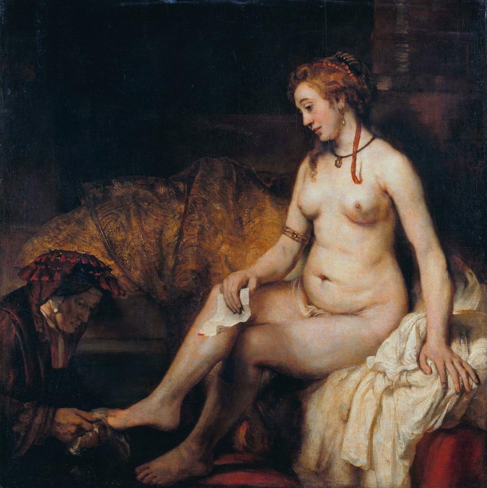 Rembrandt van Rijn, Hamamında Batşeba, Kanvas Tablo, Rembrandt, kanvas tablo, canvas print sales