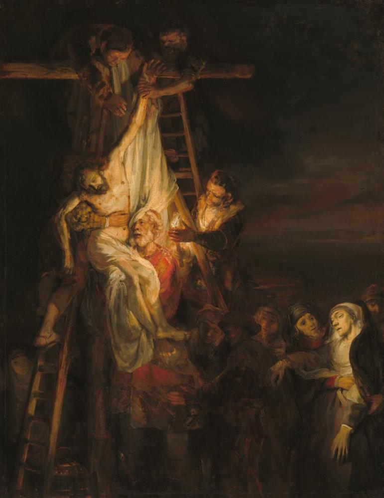 Rembrandt van Rijn, Workshop Of The Descent From The Cross, Canvas, Rembrandt, kanvas tablo, canvas print sales