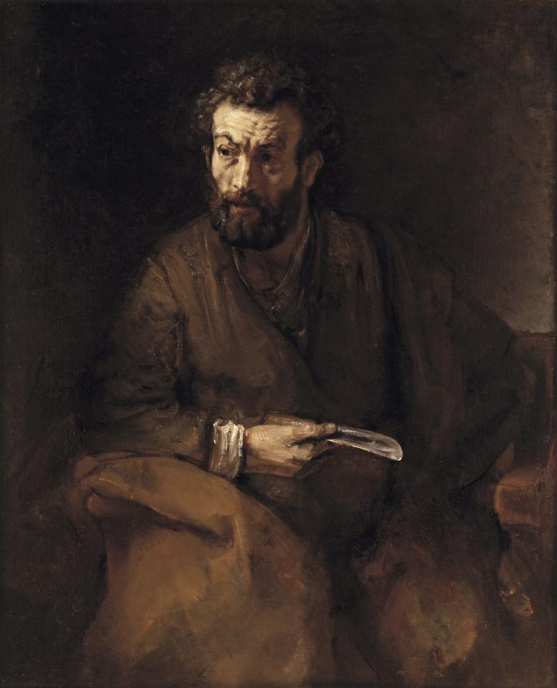 Rembrandt van Rijn, Saint Bartholomew, Canvas, Rembrandt, kanvas tablo, canvas print sales