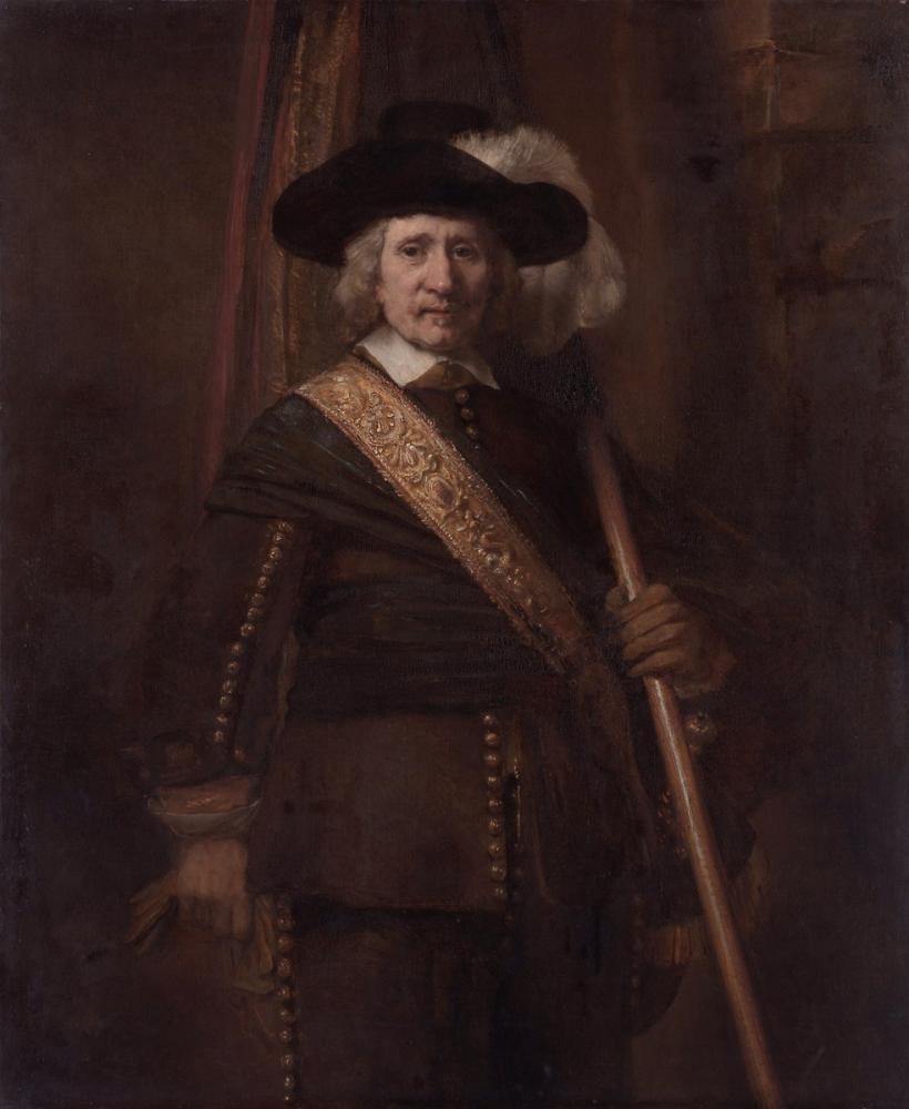 Rembrandt van Rijn, Standart Taşıyıcı Floris Soop, Kanvas Tablo, Rembrandt, kanvas tablo, canvas print sales