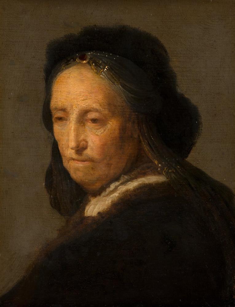 Rembrandt van Rijn, Study Of An Old Woman, Canvas, Rembrandt, kanvas tablo, canvas print sales