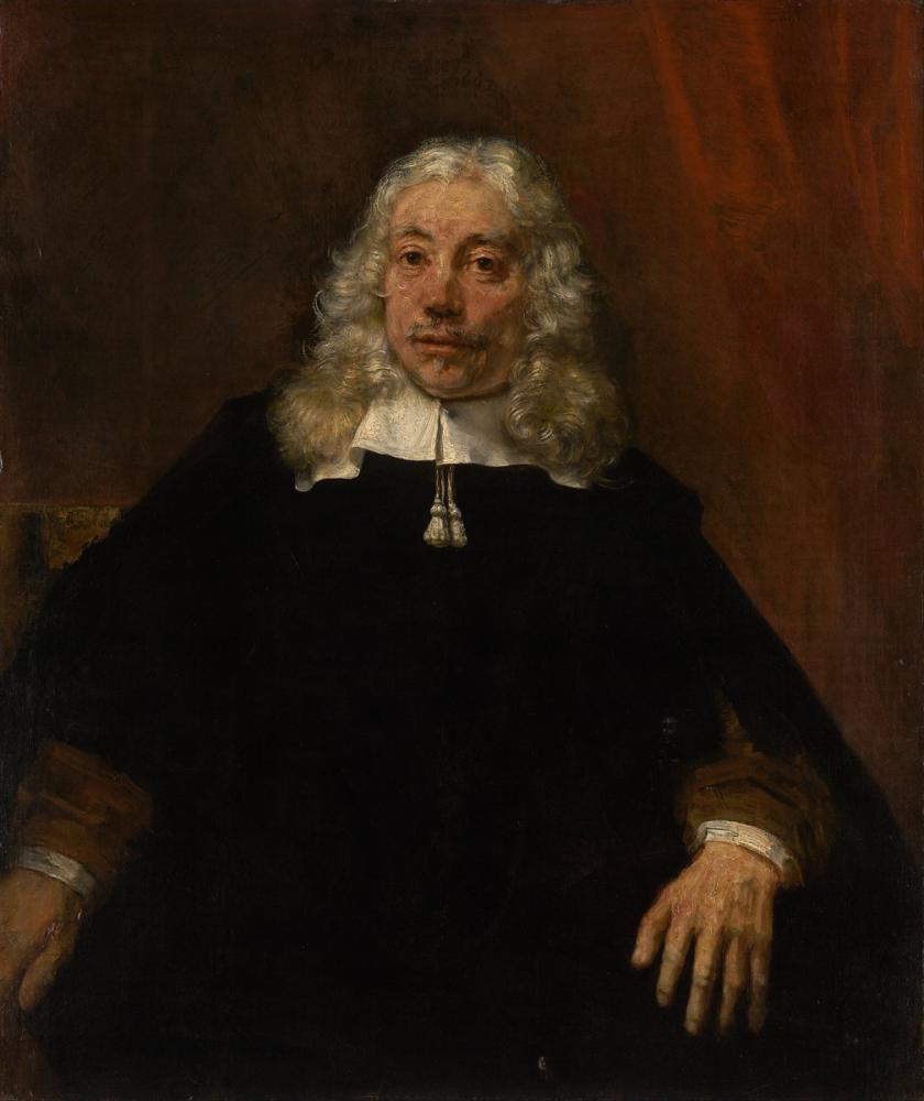 Rembrandt van Rijn, Portrait Of A White Haired Man, Canvas, Rembrandt, kanvas tablo, canvas print sales