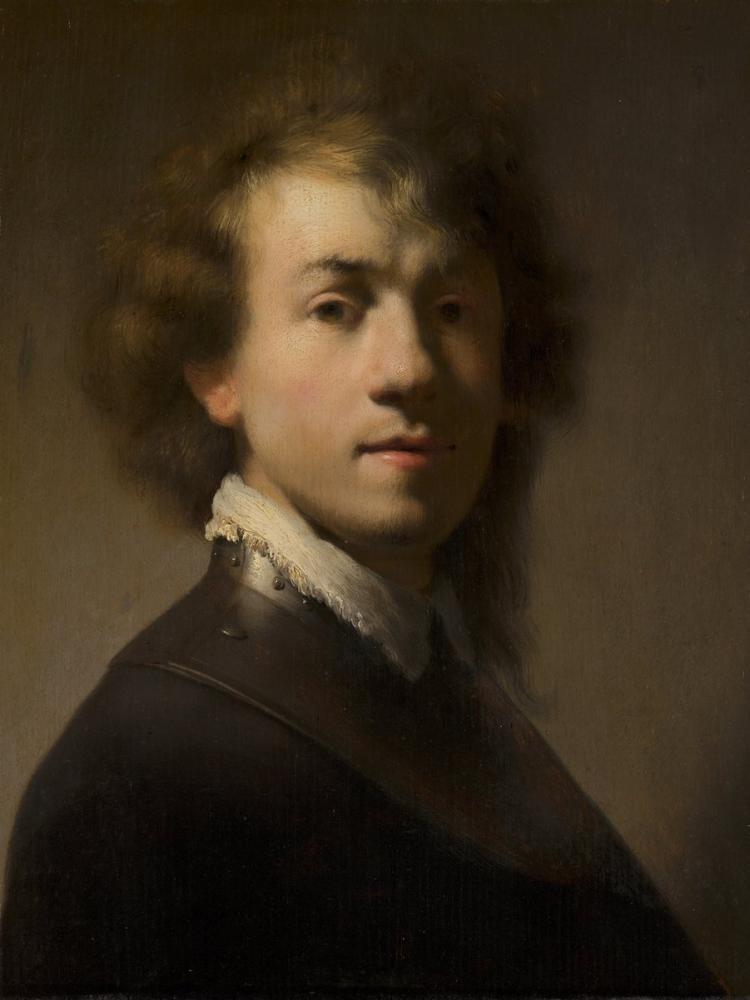 Rembrandt van Rijn, Halkalı Yakalı Portresi, Kanvas Tablo, Rembrandt, kanvas tablo, canvas print sales