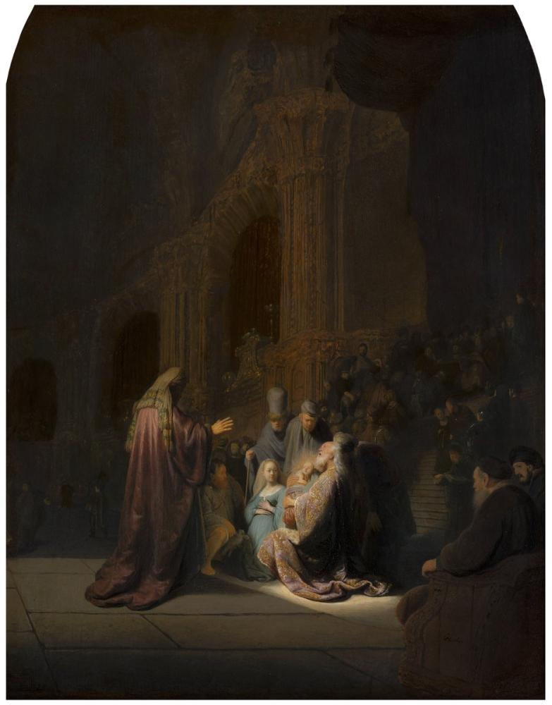 Rembrandt van Rijn, The Praise Song Of Simeon, Canvas, Rembrandt, kanvas tablo, canvas print sales