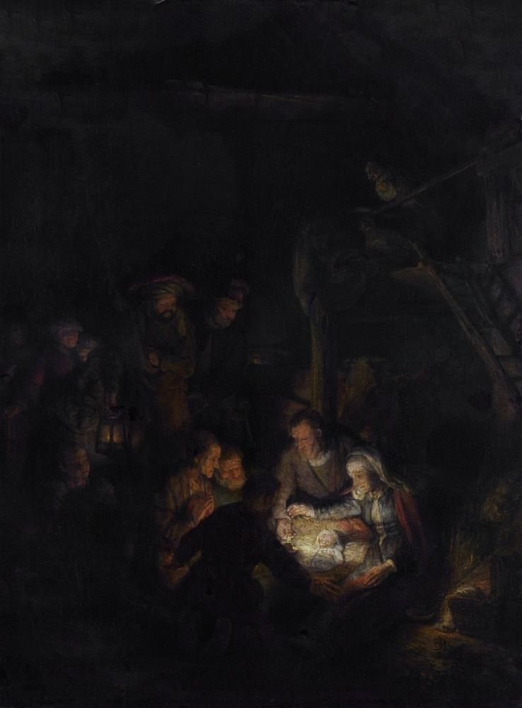 Rembrandt van Rijn, Çobanların Hayranlığı, Kanvas Tablo, Rembrandt, kanvas tablo, canvas print sales