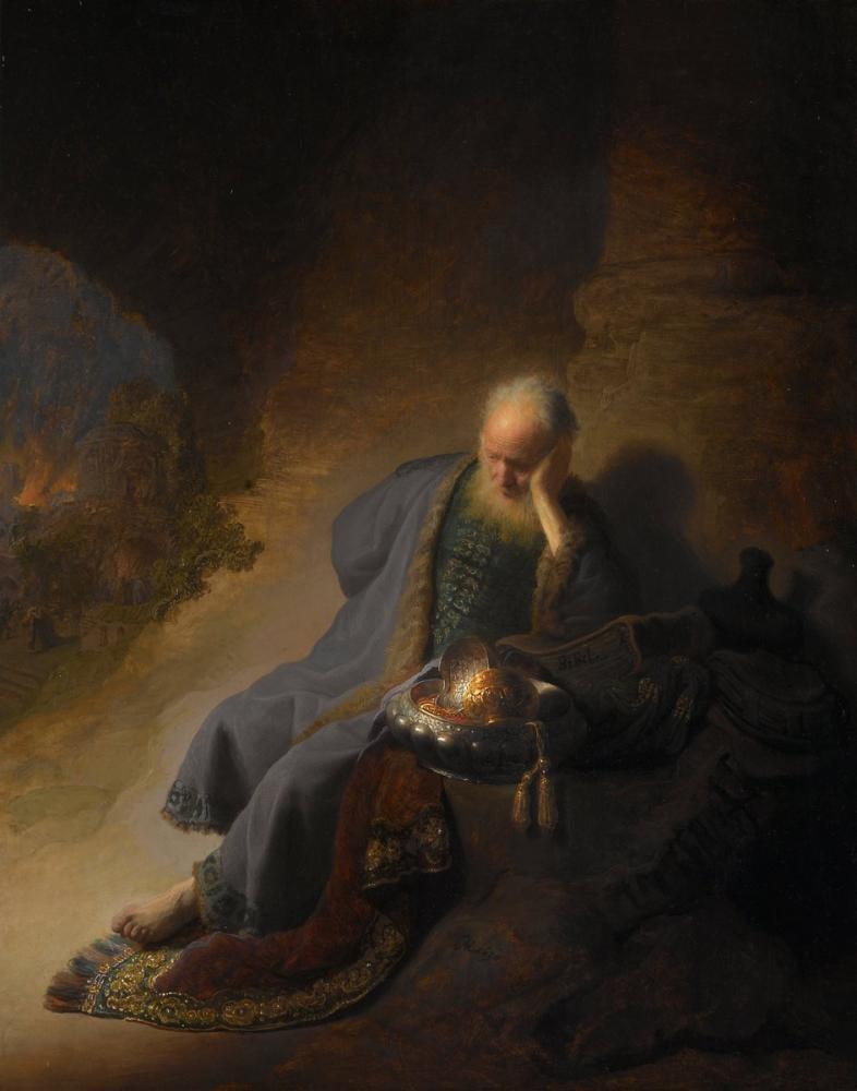 Rembrandt van Rijn, Jeremiah Mourning The Destruction Of Jerusalem, Canvas, Rembrandt, kanvas tablo, canvas print sales