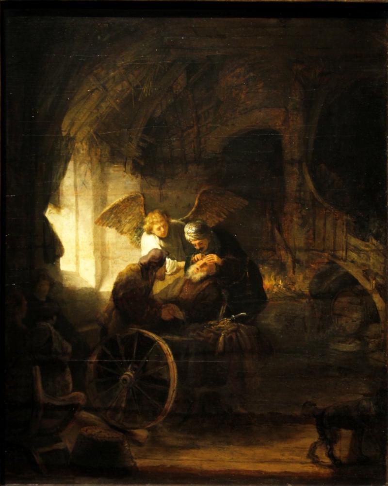 Rembrandt van Rijn, Tobias Healing His Father, Canvas, Rembrandt, kanvas tablo, canvas print sales