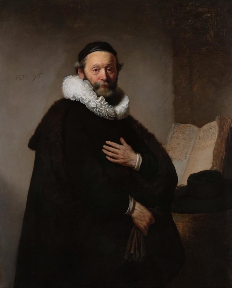 Rembrandt van Rijn, Johannes Wtenbogaert, Canvas, Rembrandt, kanvas tablo, canvas print sales