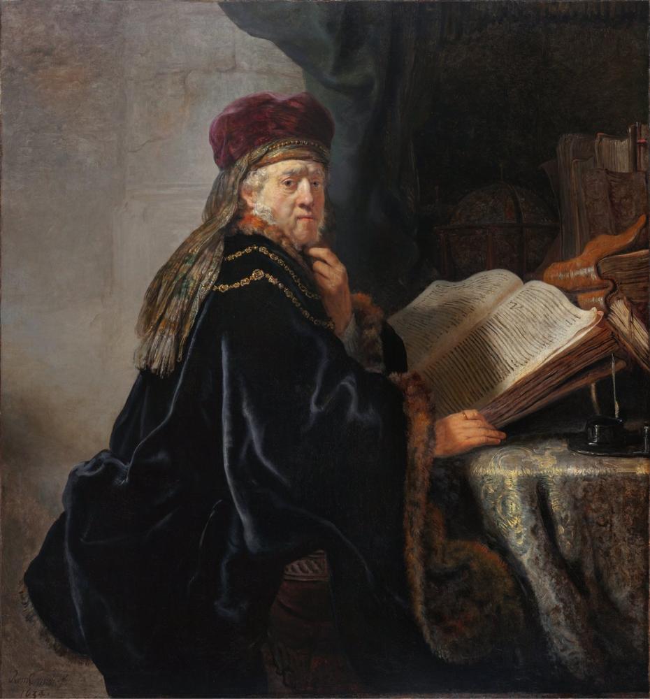 Rembrandt van Rijn, Çalışmasında Bir Bilgin, Kanvas Tablo, Rembrandt, kanvas tablo, canvas print sales