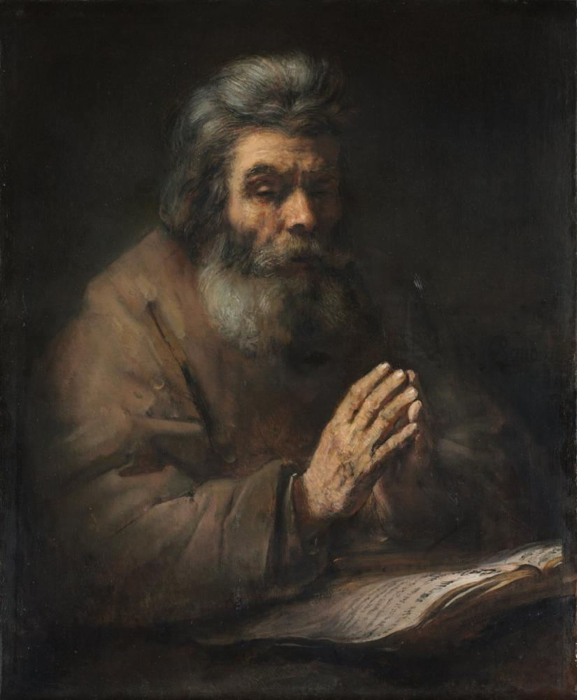 Rembrandt van Rijn, An Elderly Man In Prayer, Canvas, Rembrandt, kanvas tablo, canvas print sales