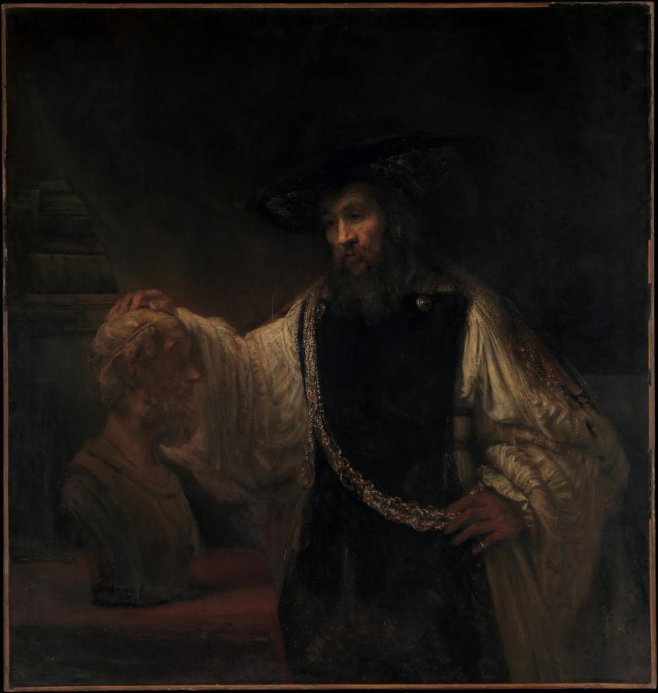 Rembrandt van Rijn, Aristotle With A Bust Of Homer, Canvas, Rembrandt, kanvas tablo, canvas print sales
