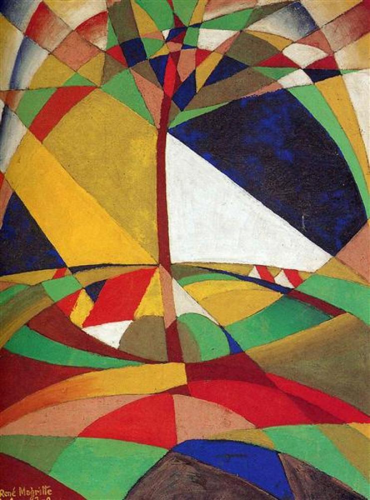 Rene Magritte Manzara Yağlıboya Tablo, Kanvas Tablo, René Magritte, kanvas tablo, canvas print sales