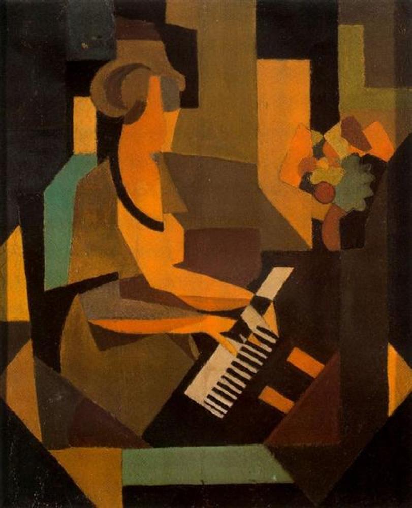 Rene Magritte Piyanodaki Kadın Yağlıboya Tablo, Kanvas Tablo, René Magritte, kanvas tablo, canvas print sales