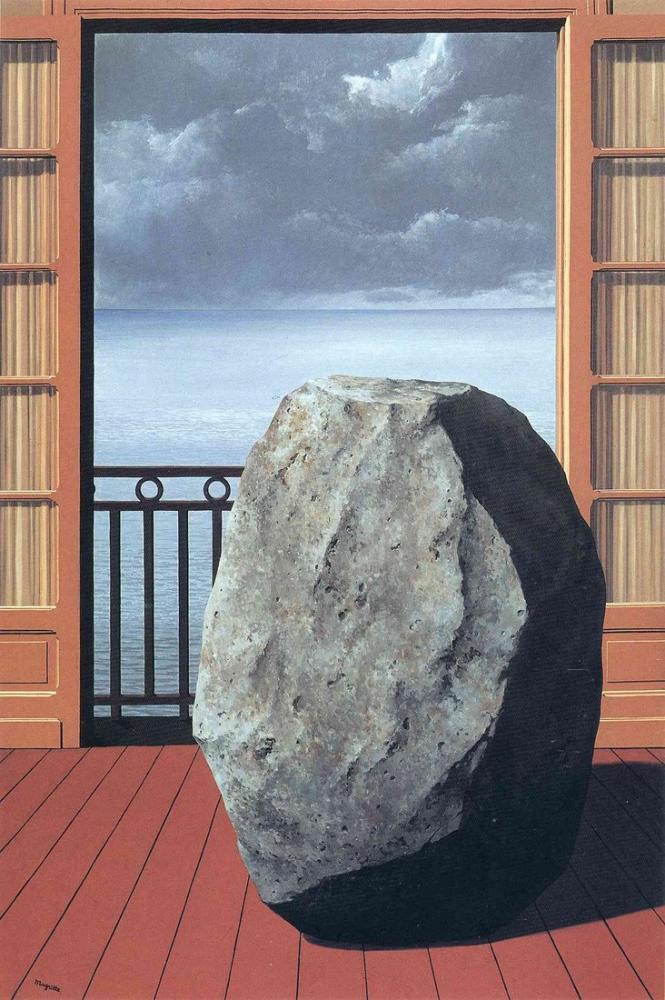 Rene Magritte Görünmez Dünya, Kanvas Tablo, René Magritte, kanvas tablo, canvas print sales