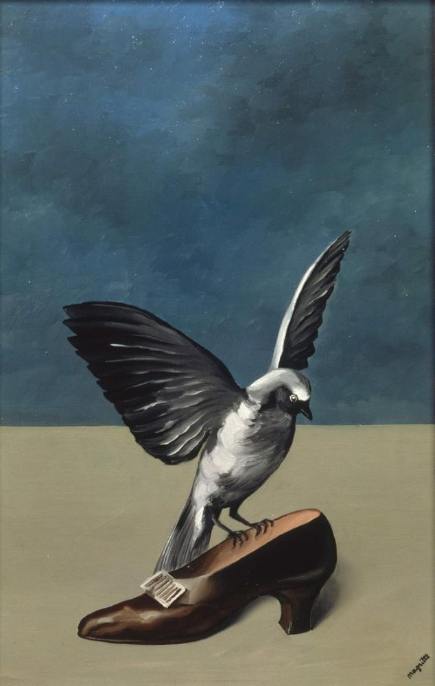 Rene Magritte Tanrı Aziz Değil, Kanvas Tablo, René Magritte, kanvas tablo, canvas print sales