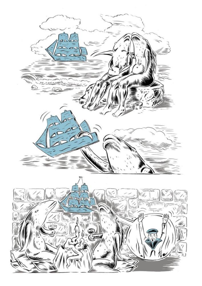 Rene Magritte Balık Adamları, Kanvas Tablo, René Magritte, kanvas tablo, canvas print sales
