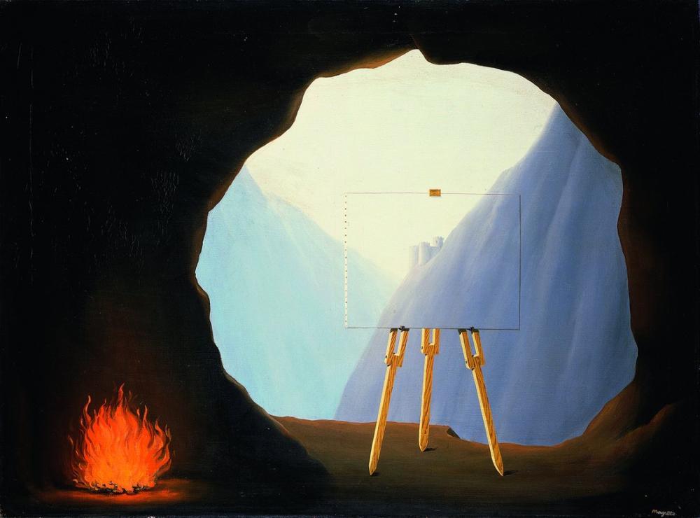 Rene Magritte İnsan Durumu, Kanvas Tablo, René Magritte, kanvas tablo, canvas print sales