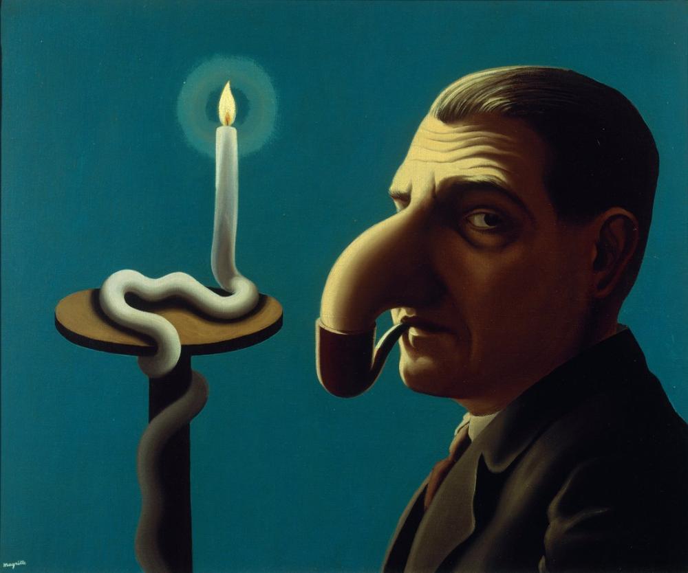 Rene Magritte Filozof Lambası, Kanvas Tablo, René Magritte, kanvas tablo, canvas print sales