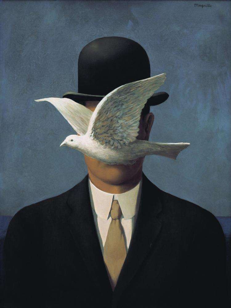 Rene Magritte Melon Şapkalı Adam, Kanvas Tablo, René Magritte, kanvas tablo, canvas print sales