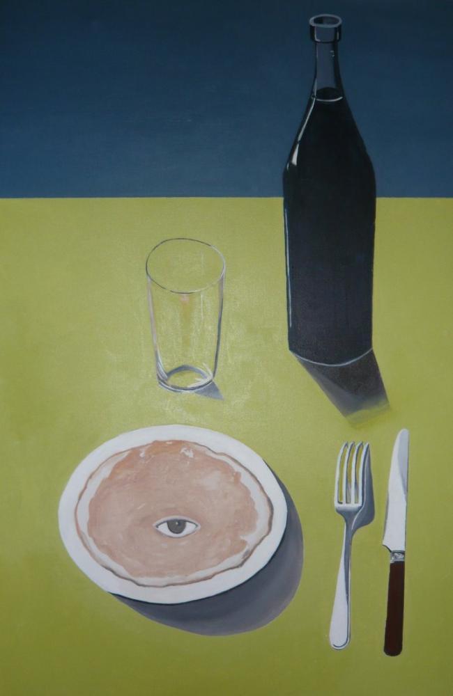 Rene Magritte Portre, Kanvas Tablo, René Magritte, kanvas tablo, canvas print sales